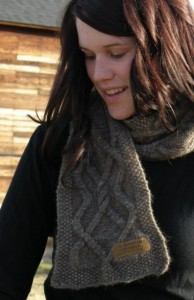 Bison Trails cabled scarf