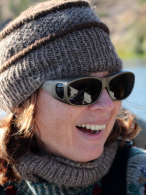 Head-in-the-Clouds hat knit with Bison Cloud yarn