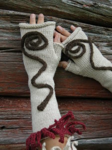 Montana Bison Co. alpaca bison wool mitts